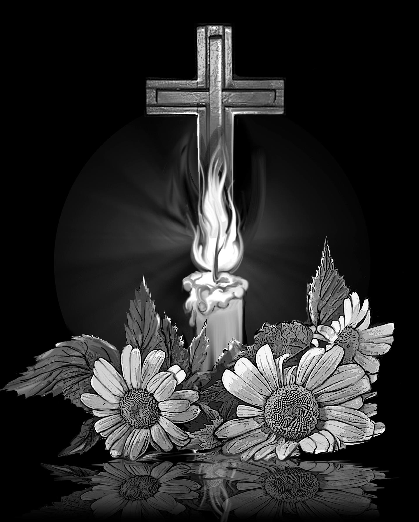 картинки цветов и свечей на надгробии конечно вам, дорогие